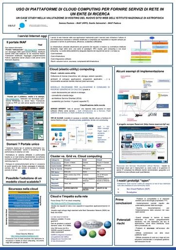 Conferenza GARR 2010 - Poster - Pastore - Selvestrel