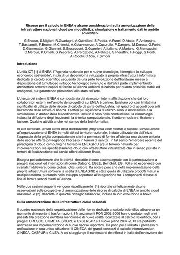 WsCSD12 - Position Paper - G. Bracco