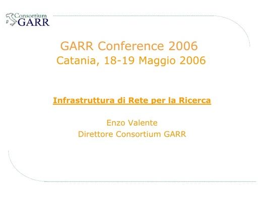 Conferenza GARR 2006 - Presentazione - Valente