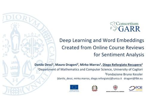 Conferenza GARR 2018 - Presentazione - Reforgiato Recupero