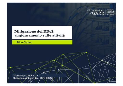 Workshop GARR 2019 - Presentazione - Ciurleo