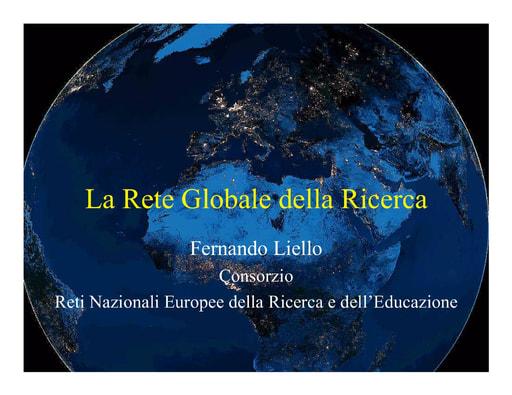 WS04 - Liello - Il GARR e la rete mondiale della ricerca