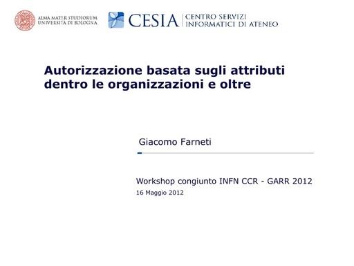 WS12 - presentazione - G. Farneti
