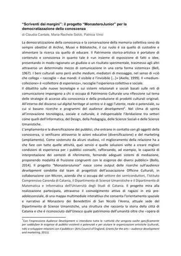 Conferenza GARR 2016 - Paper - Cantale
