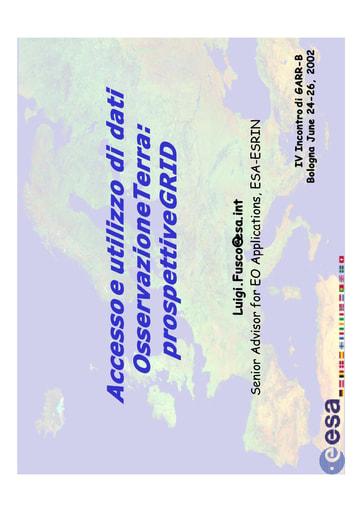 WS04 - Fusco - Accesso e utilizzo di dati Osservazione Terra: prospettive GRID