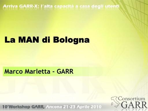 WS10 - Marletta - La MAN di Bologna