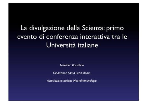 Conferenza GARR 2011 - Presentazione - Borsellino G.