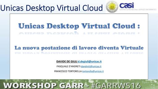 Ws16 - Presentazione - D. De Giuli