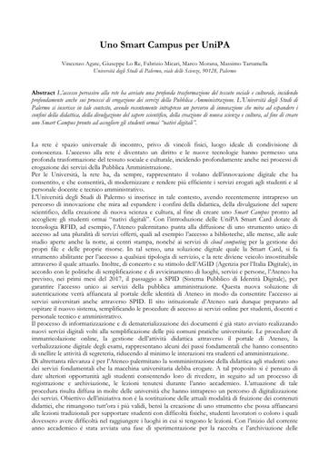 Conferenza GARR 2016 - Paper - Lo Re