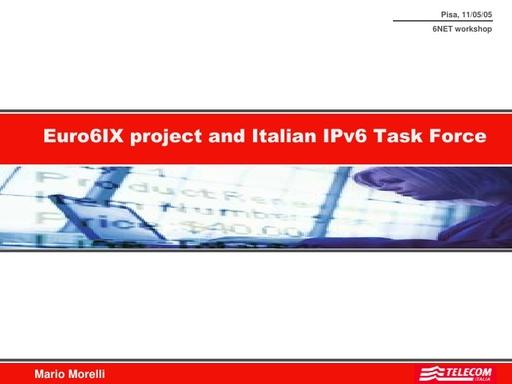 Conferenza GARR 2005 - Presentazione - Morelli