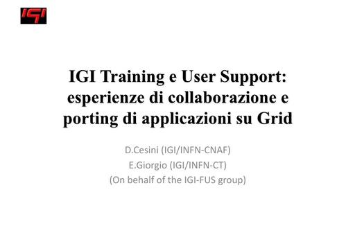 WsCSD12 - Presentazione - D. Cesini