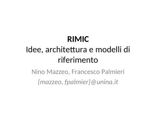 WS12 - presentazione - N. Mazzeo - F. Palmieri