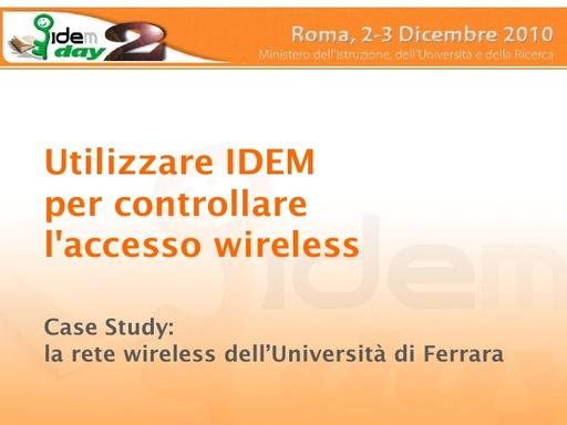 II IDEM Day - presentazione - Lugli