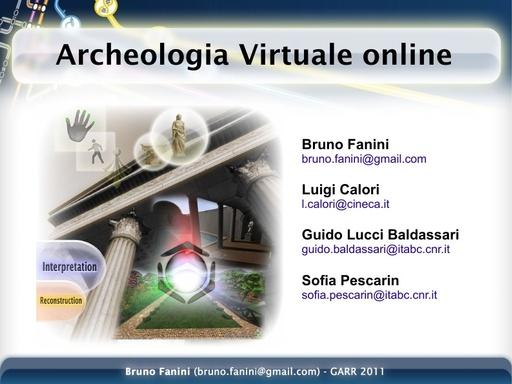 Conferenza GARR 2011 - Presentazione - Fanini B.