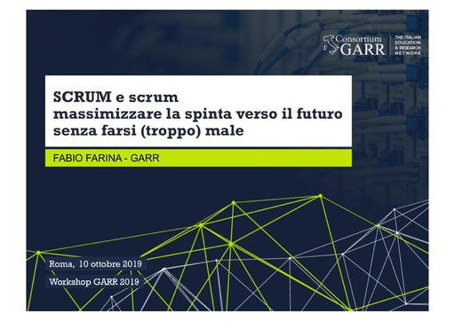 Workshop GARR 2019 - Presentazione - Farina