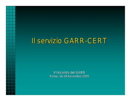 Ws06 - Presentazione - CERT