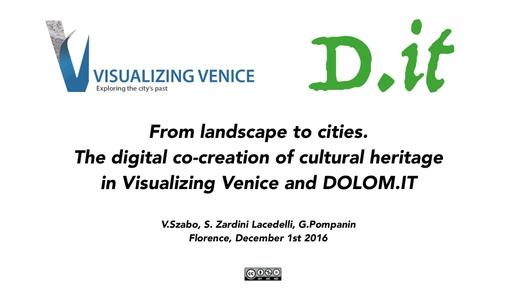 Conferenza GARR 2016 - Presentazione - Szabo, Lacedelli, Pompanin