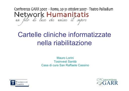 Conferenza GARR 2007 - Presentazione - Lorini