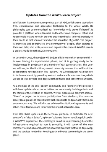 Conferenza GARR 2016 - Paper - Iaconelli