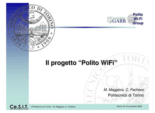 Ws06 - Presentazione - Maggiora