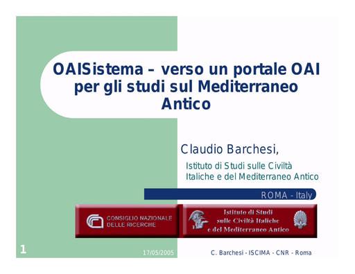 Conferenza GARR 2005 - Presentazione - Barchesi