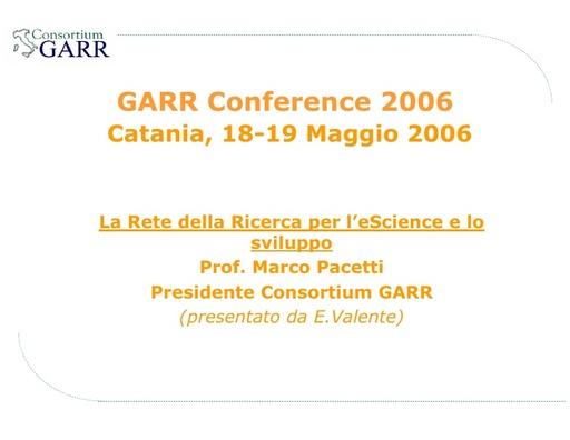 Conferenza GARR 2006 - Presentazione - Pacetti