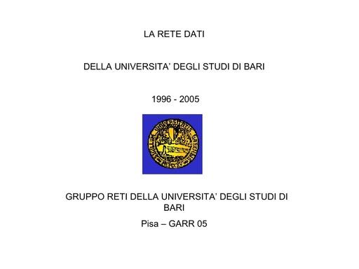 Conferenza GARR 2005 - Presentazione - Natali