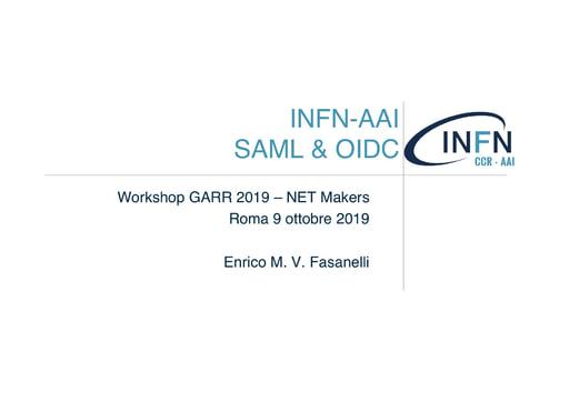Workshop GARR 2019 - Presentazione - Fasanelli