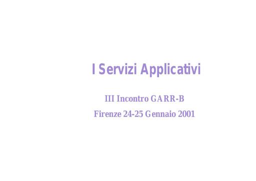 WS03 - Tentoni - I servizi applicativi