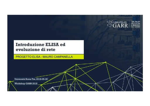 WS18 - M. Campanella - Introduzione ELISA e evoluzione di rete