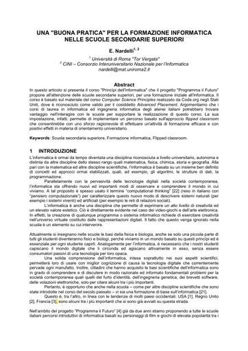 Conferenza GARR 2016 - Paper - Nardelli