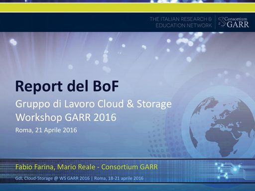 WS16 - GDL - Cloud & Storage