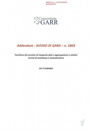 Bando 1803 - Addendum