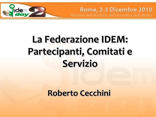 II IDEM Day - presentazione - Cecchini
