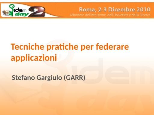 II IDEM Day - presentazione - Gargiulo