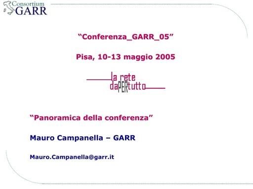 Conferenza GARR 2005 - Presentazione - Campanella