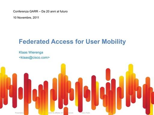 Conferenza GARR 2011 - Presentazione - Wierenga K.