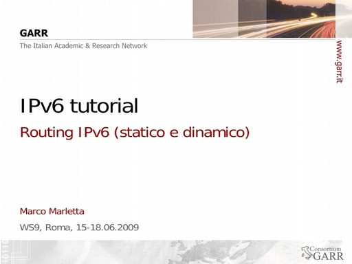 Ws09 - Presentazione - Marletta - Tutorial 2