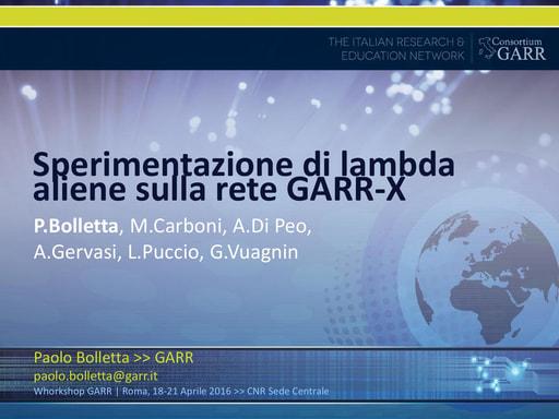 Ws16 - Presentazione - P. Bolletta