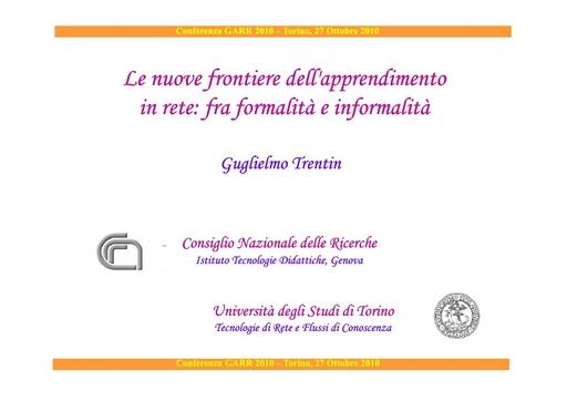 Conferenza GARR 2010 - Presentazione - Trentin