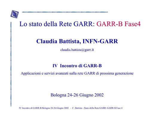 WS04 - Battista - Stato della Rete GARR: Fase 4