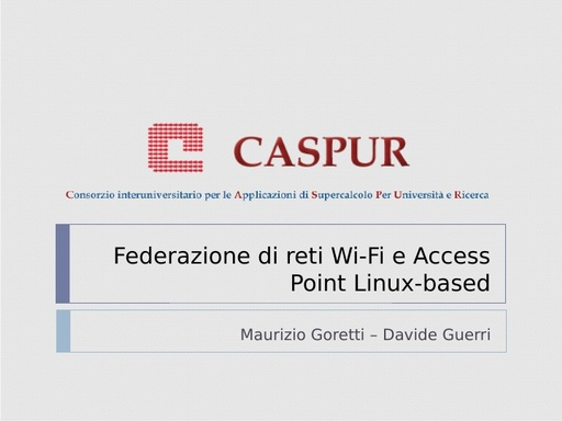 Ws08 - Presentazione - Goretti - Guerri - ppt