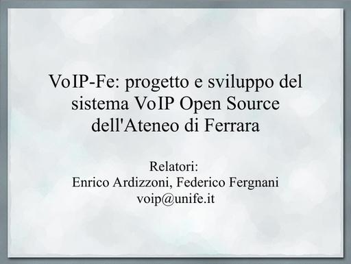 Ws09 - Presentazione - Ardizzoni - Fergnani - ppt