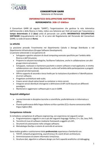 Bando Job-17-SWDev