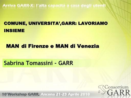 WS10 - Tomassini - Comune, Università, GARR