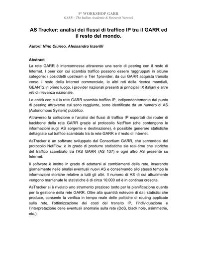 Ws09 - Abstract - Ciurleo - Inzerilli
