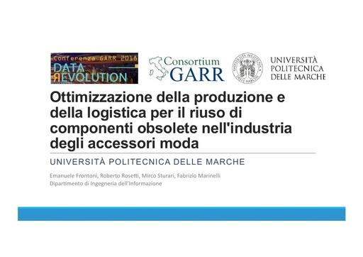 Conferenza GARR 2018 - Presentazione - Frontoni