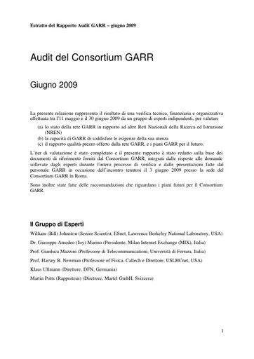 2009 - Report Audit GARR