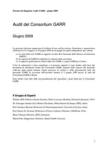 2009 - Report Audit GARR