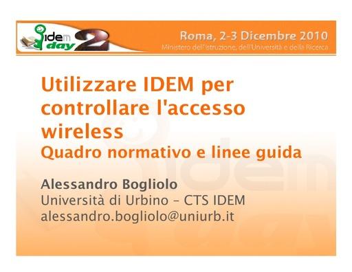 II IDEM Day - presentazione - Bogliolo